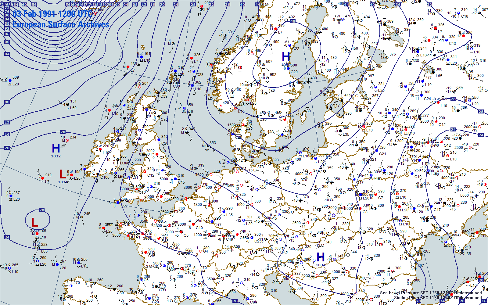 European Surface Archives Weather Graphics