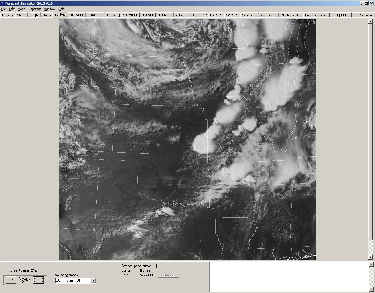 Forecast Laboratory Storm Chasing Forecast Simulator